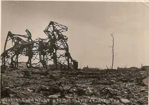 Hiroshim: Totale Zerstörung.