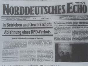 KPD Verbot norddeutsches echo