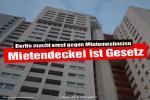 Berliner Abgeordnetenhaus beschließt Mietendeckel