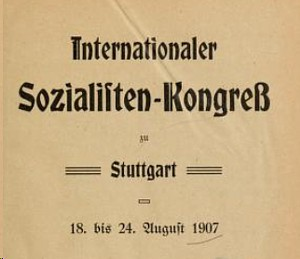 Logo Internationaler Sozialistenkongress 1907
