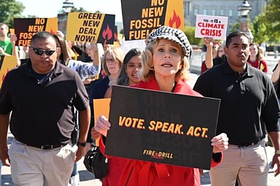 Jane Fonda vote speak act