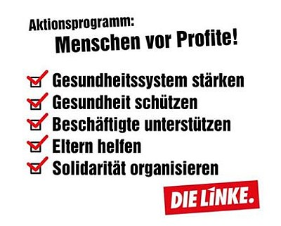 Corona LINKE Aktionsprogramm