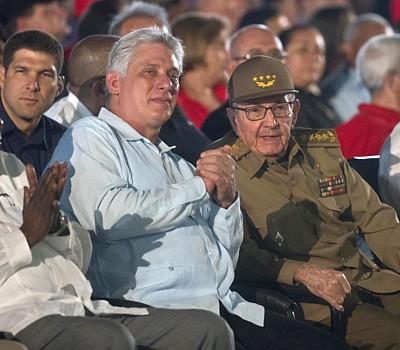 Miguel Díaz-Canel und Raul Castro